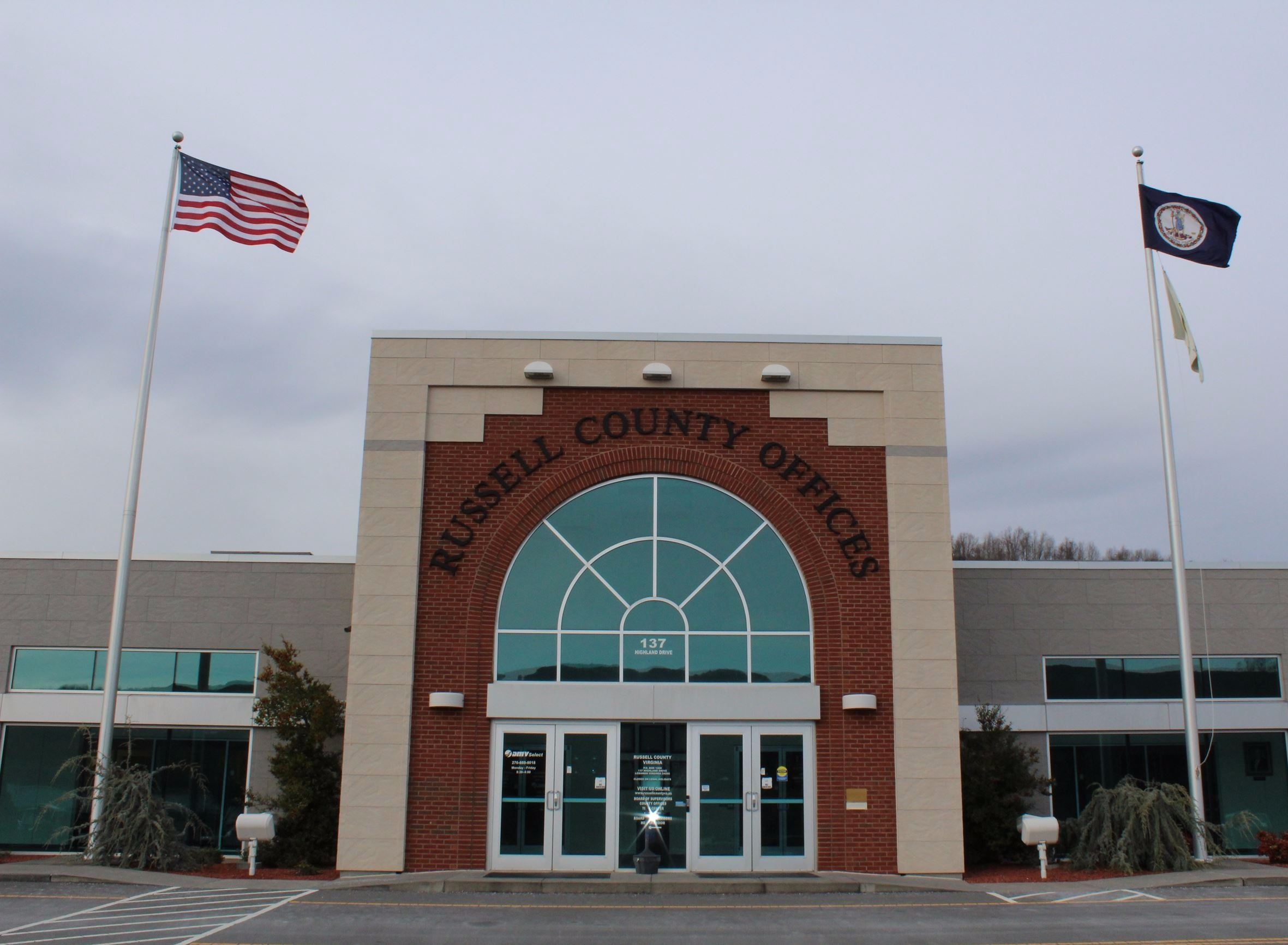 Entrance to Russell County Government Offices
