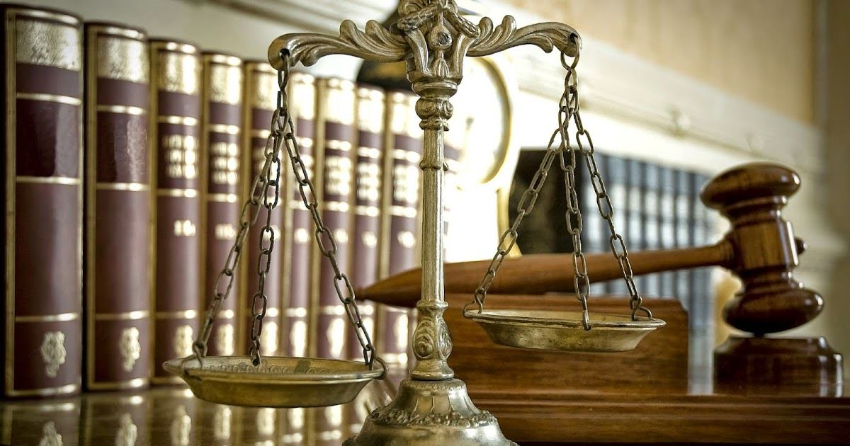 Legal Code Books, Gavel, and Scales of Justice